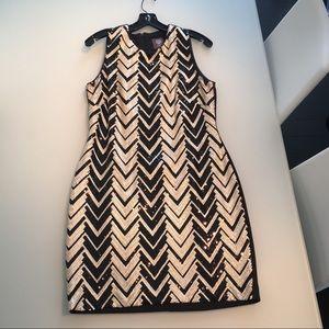 Vince Camuto Chevron Sequin Dress-size 10
